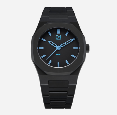 D1Milano Watch Black Neon