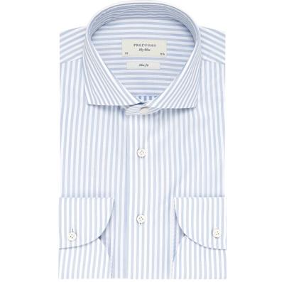 Profuomo lichtblauw overhemd met streep