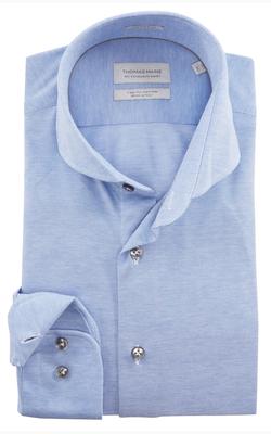 Thomas Maine Overhemden Lichtblauw