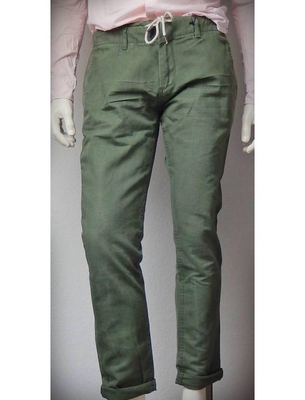 Dstrezzed tapered Chino Double WB Cropped Pigm Army Green
