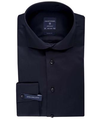 Profuomo overhemd zwart slim fit