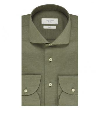 Profuomo Shirt Cutaway SF SC Olive